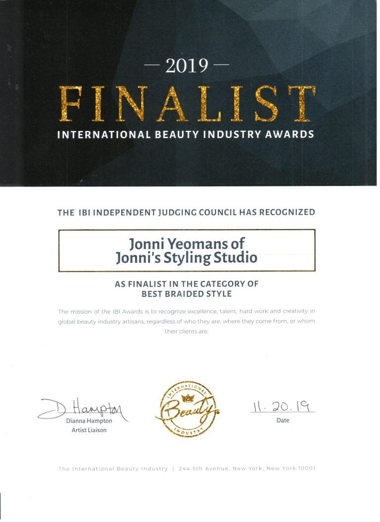 IBA Award Best Braided