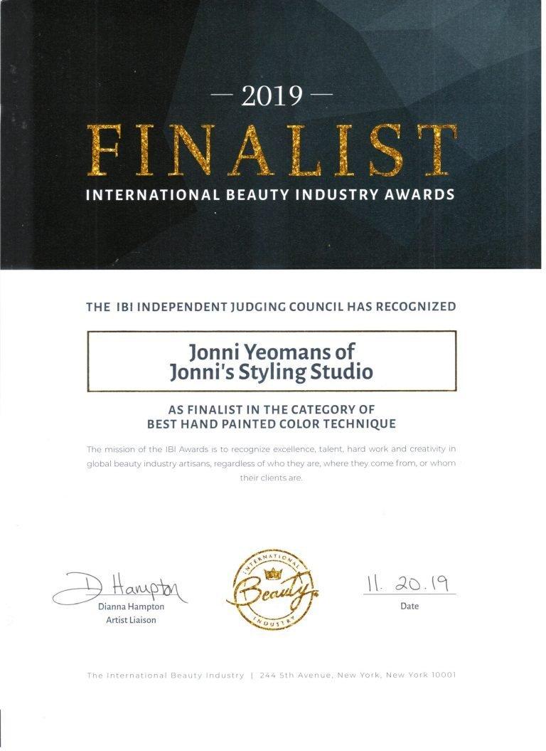 IBA Award Best Hand Painted